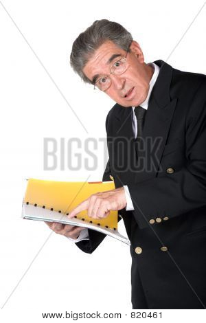 business man with book