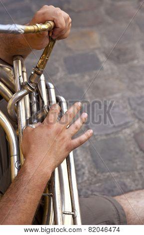 Playing Tuba