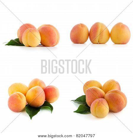 Set Of Sweet Peaches