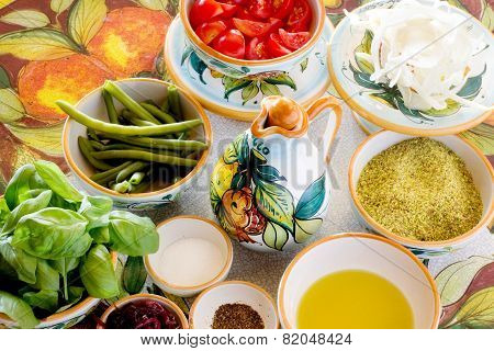 Mediterranean Food Ingredients And Spices