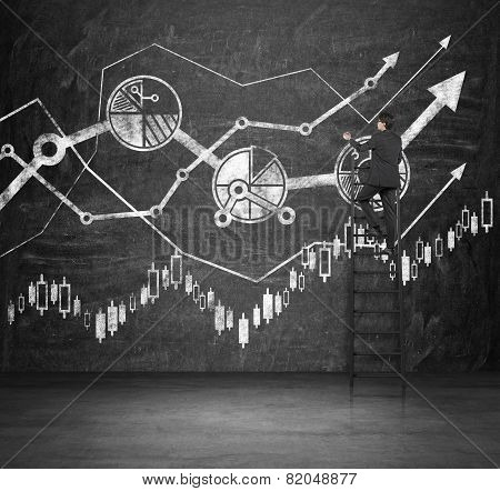 Businessman Drawing Charts