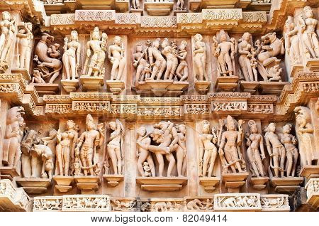 Erotic Human Sculptures, Khajuraho, India.