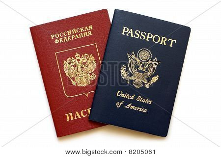 Russian And American Passports