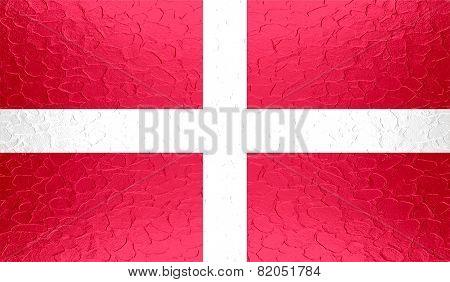 Sovereign Military Order of Malta flag on metallic metal texture