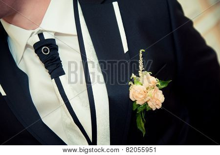 Boutonniere For The Groom's Suit