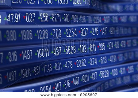Abstract stock ticker