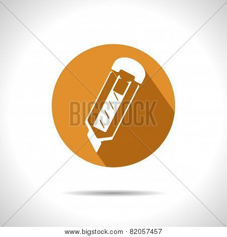 Vector Stationery Knife Icon. Eps10