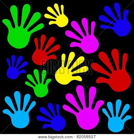 Handprints background