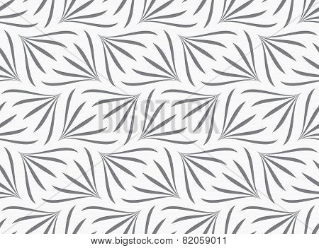 Repeating Ornament Gray Floral With Turn