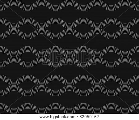 Repeating Ornament Horizontal Wavy Lines