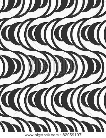 Repeating Ornament Of  Gray Half-circles Making Waves