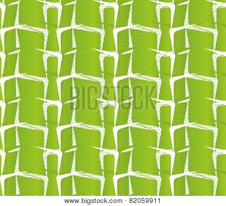 Textured Ornament With Light Green Stripes