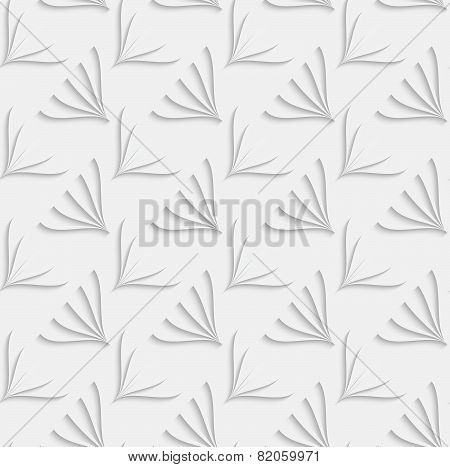 White Ornament With Geometric Floral Shapes On White Background
