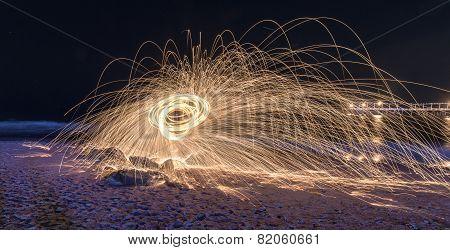 Burning Steel Wool