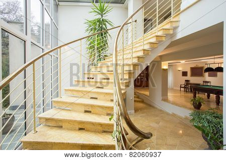 Marble Stairs Inside Expensive House