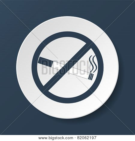 No Smoking Sign. Vector Isolated.