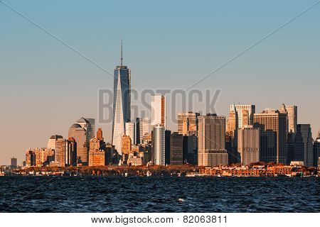 View Of Manhattan Skyline In Nyc