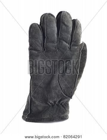 Suede winter glove isolated