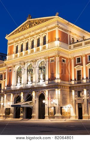 Wiener Musikverein At Evening