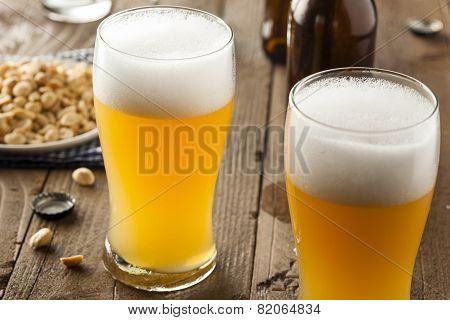 Resfreshing Golden Lager Beer