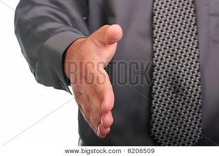 die Hand schütteln