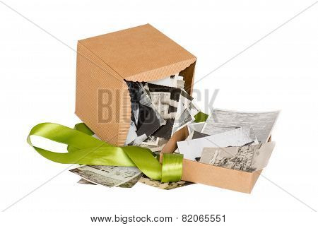 Box With Old Family Photos