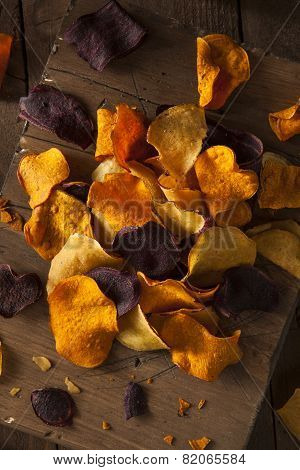 Healthy Homemade Vegetable Chips