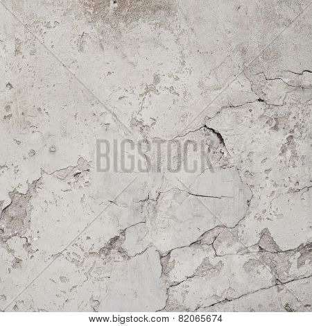 Old cracked white wall surface