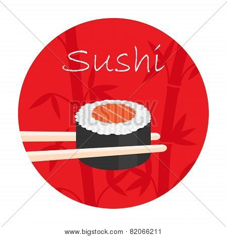 vector logo with sushi