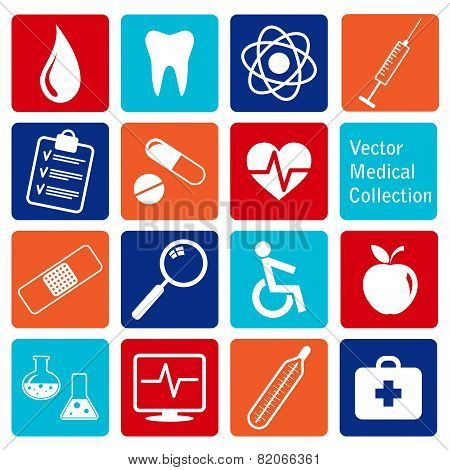 vector collection of medical icons