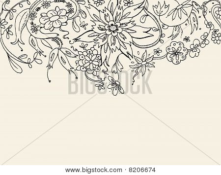 Floral Doodle Background