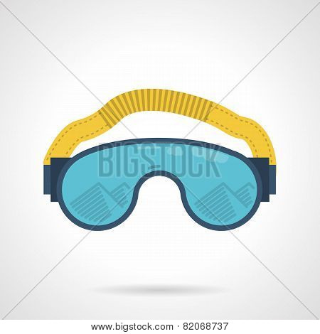 Climbing goggles color vector icon