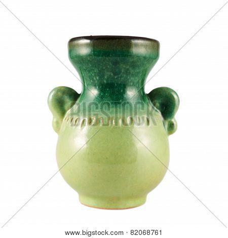 Ceramic vase isolated