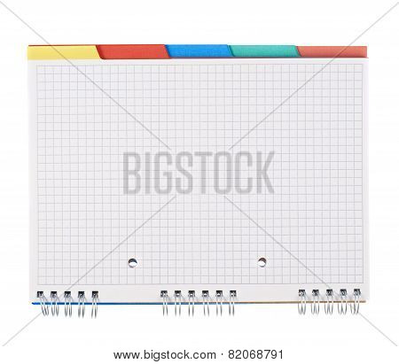 Squared notebook isolated