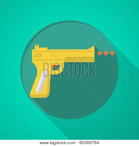 Sport air gun flat color vector icon