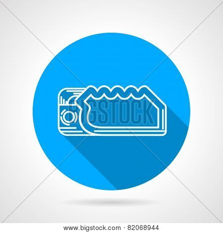 Descender device flat vector icon