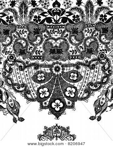 Paisley flower texture design