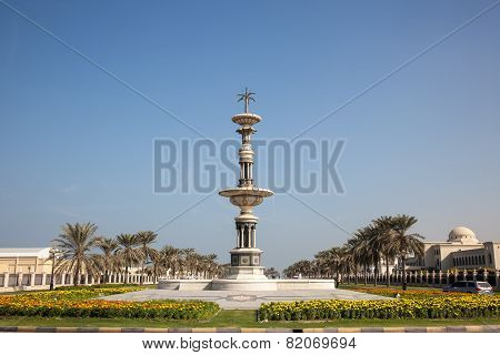 Statue In A Roundabout In Sharjah