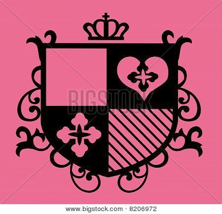 royal emblem shield fraphic