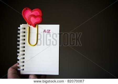 Valentine's Day Empty Page In Organzer