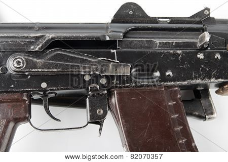 Kalashnikov Rifle. Second Safety Lever Position.