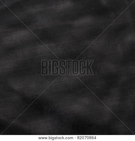 Black netting cloth material fragment