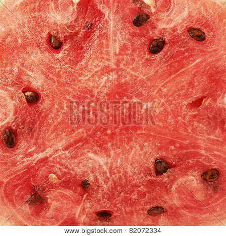 Red watermelon flesh fragment