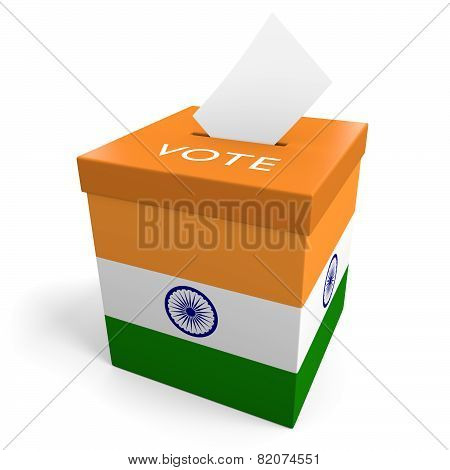 India election ballot box for collecting votes