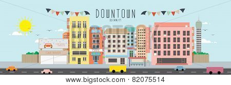 Downtown vector illustration