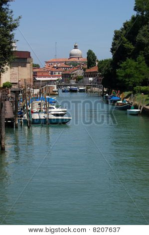View along the Rio dei Giardini, Venice