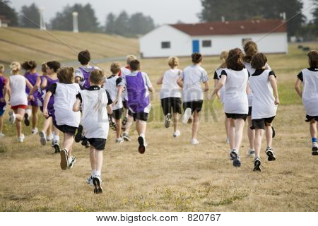 Two Cross Country Teams Racing