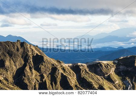 Highland Andes Near Quilotoa Lagoon, Ecuador, South America