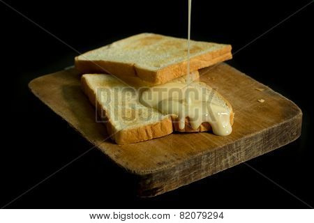 Sweetened condensed milk and breads