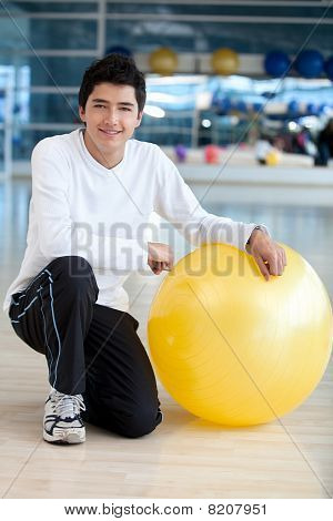 Man With Pilates Ball